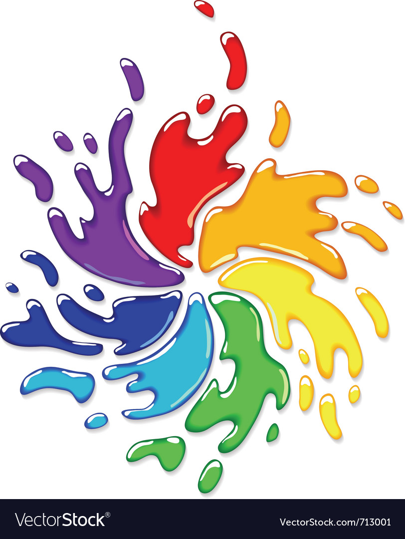 Rainbow paint splash