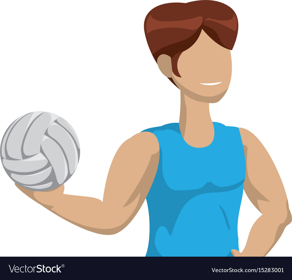 Voleyball player cartoon