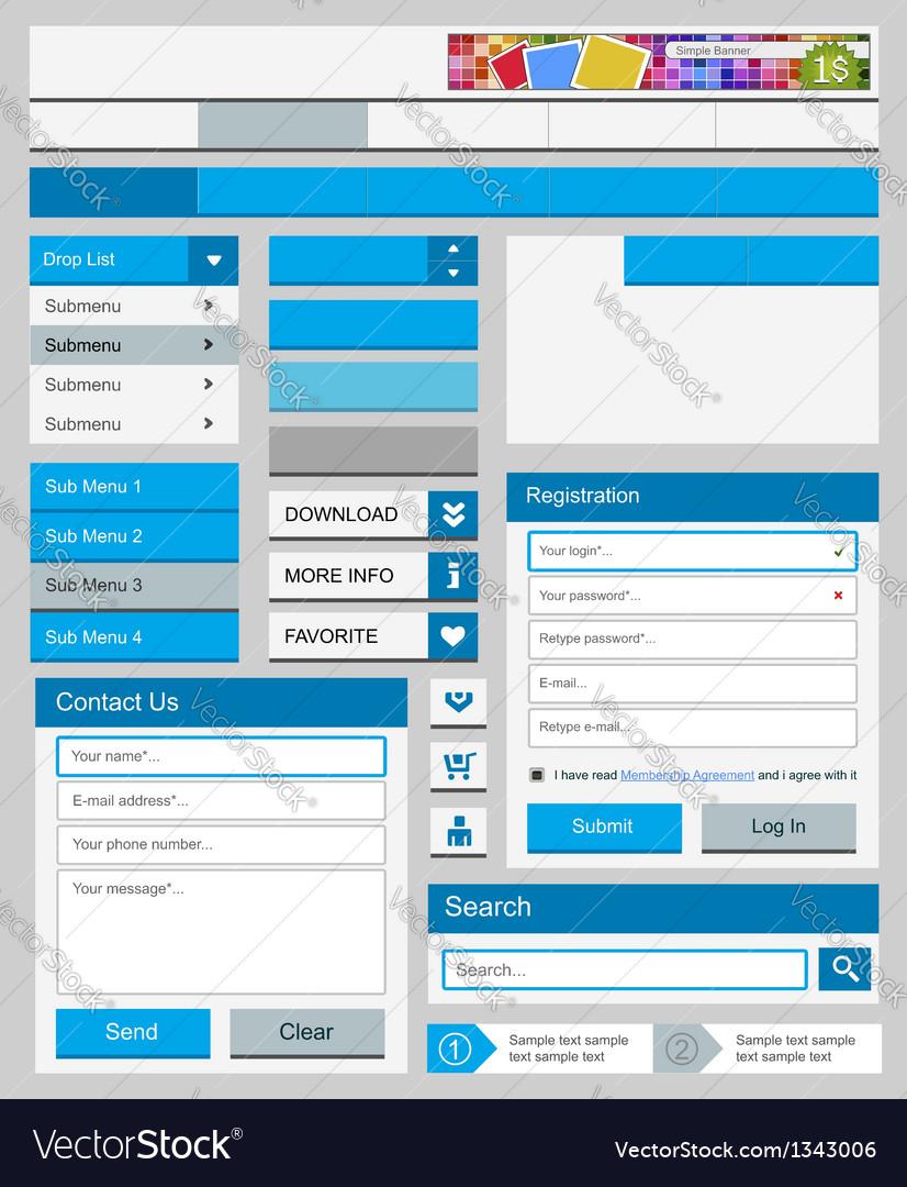 Clean web elements set
