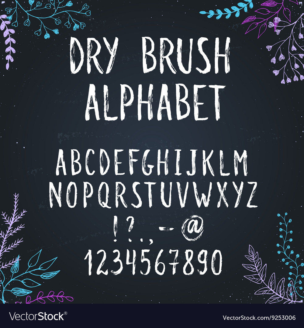 Hand drawn letters vector image