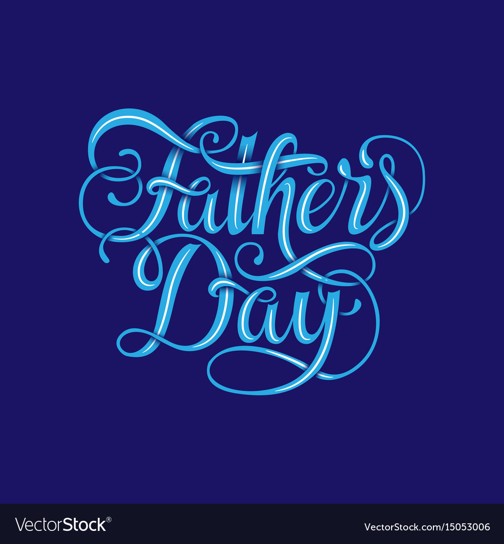 Happy fathers day typography vintage