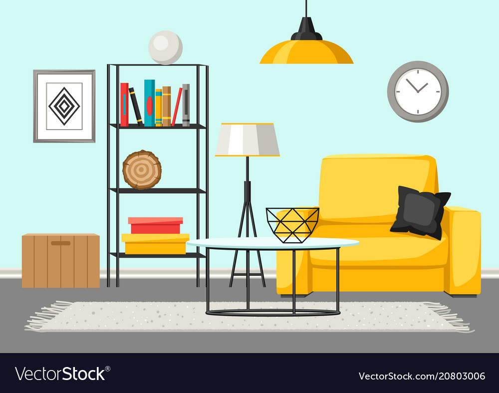 Interior living room furniture and home decor