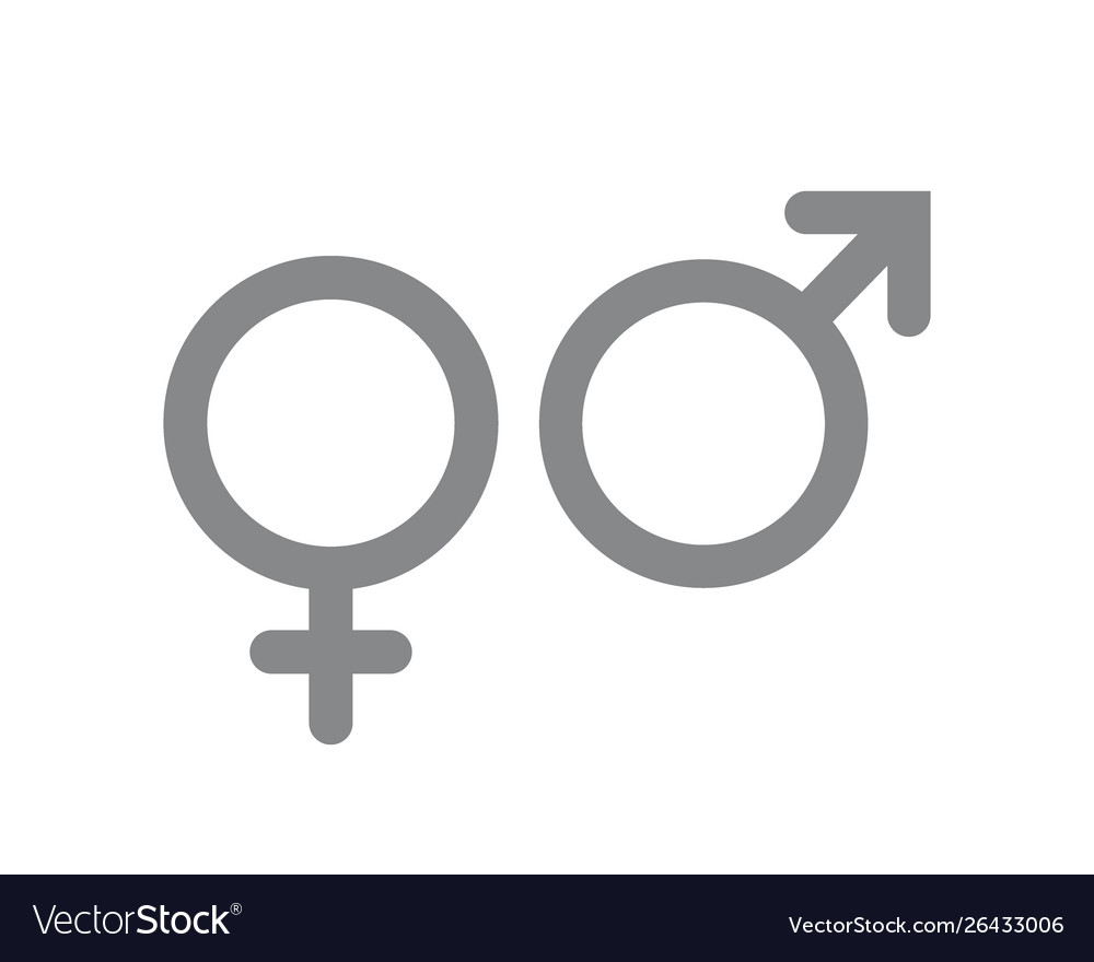 Male and female icon gender and sexual