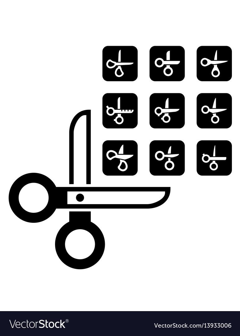 Scissors concept set vector image