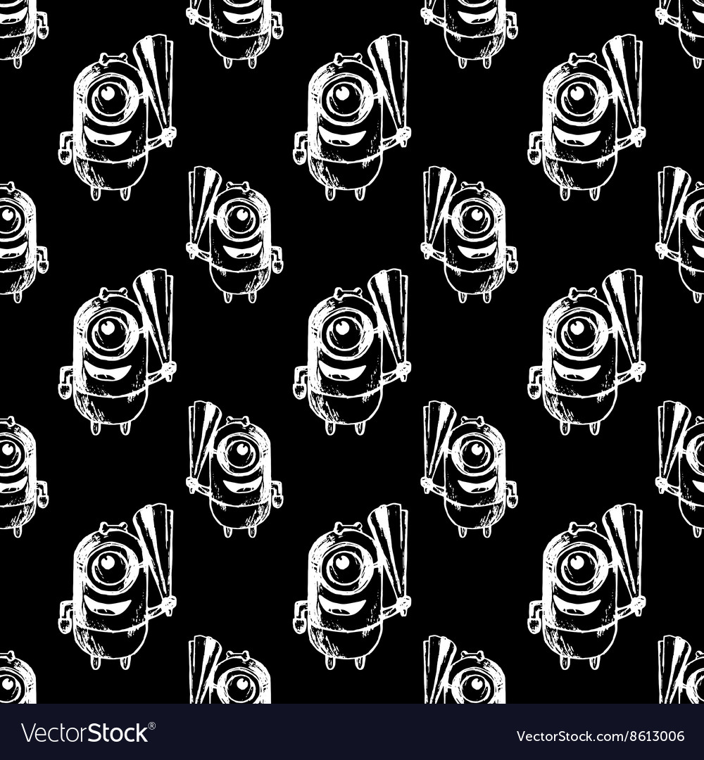 Seamless patterbn with minion vector image