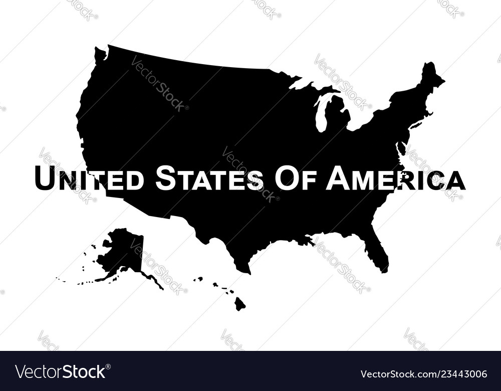 Usa map silhouette Royalty Free Vector Image - VectorStock