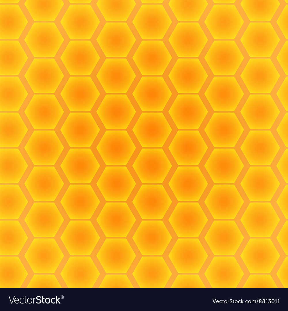 Abstract seamless pattern of hexagons