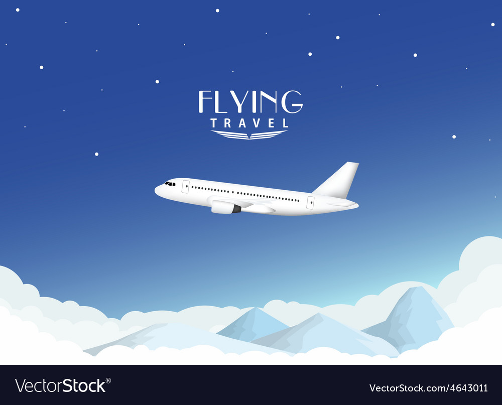 Airplane travel background vector image