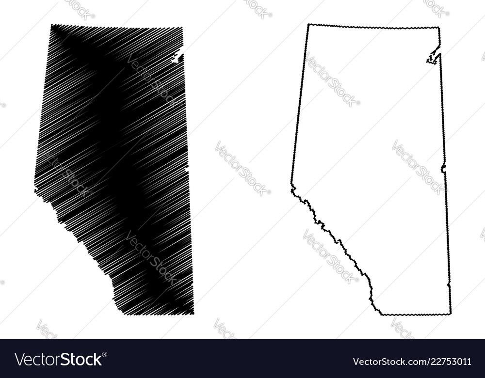 Alberta canada map