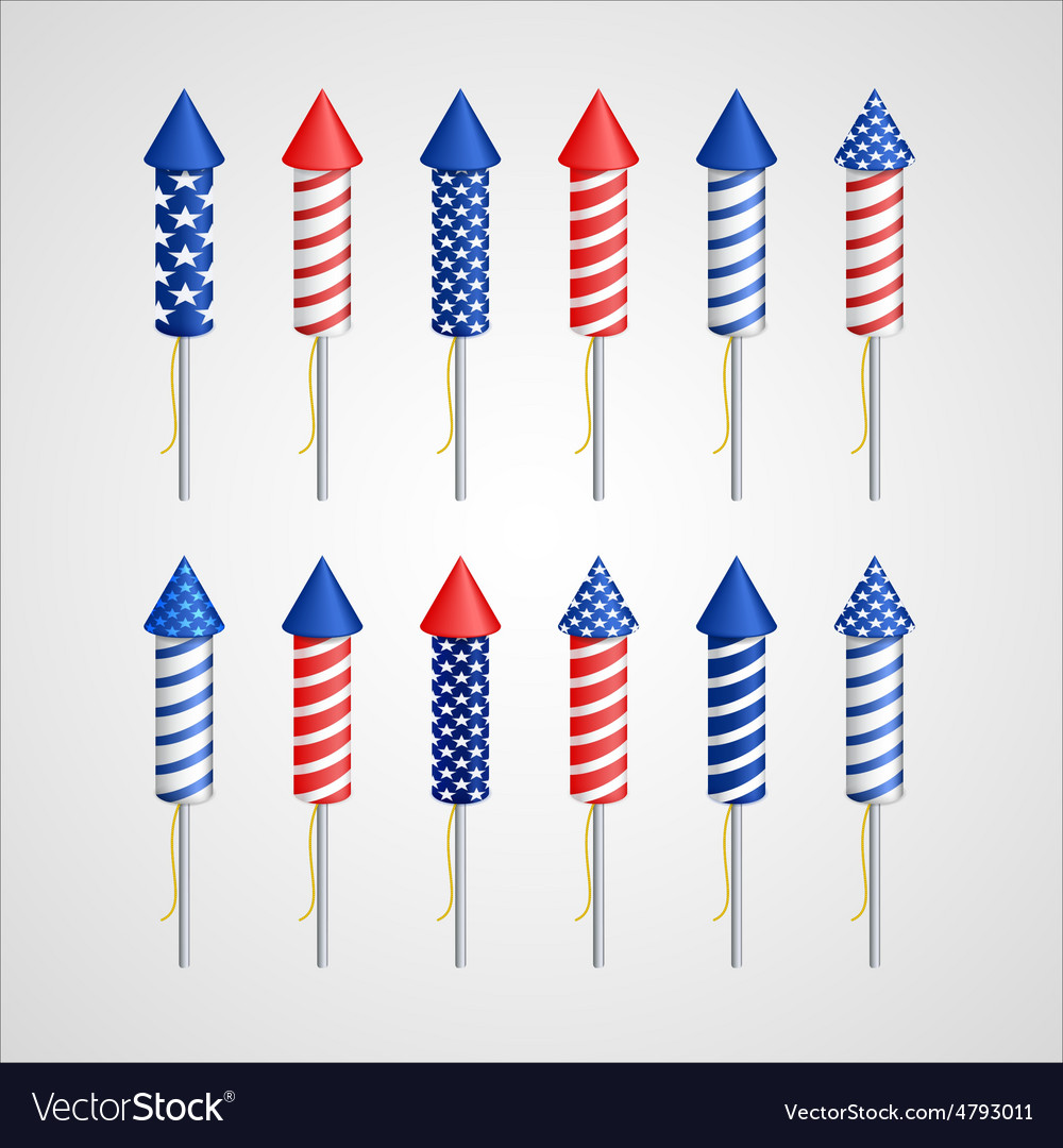 American Independence Day Holiday rocket