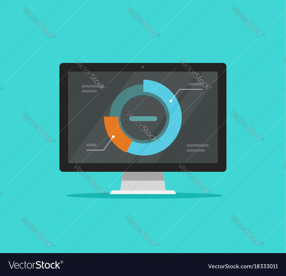 Computer data analytics flat