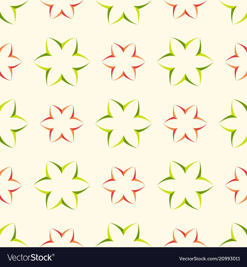 Floral seamless pattern with geometric flower