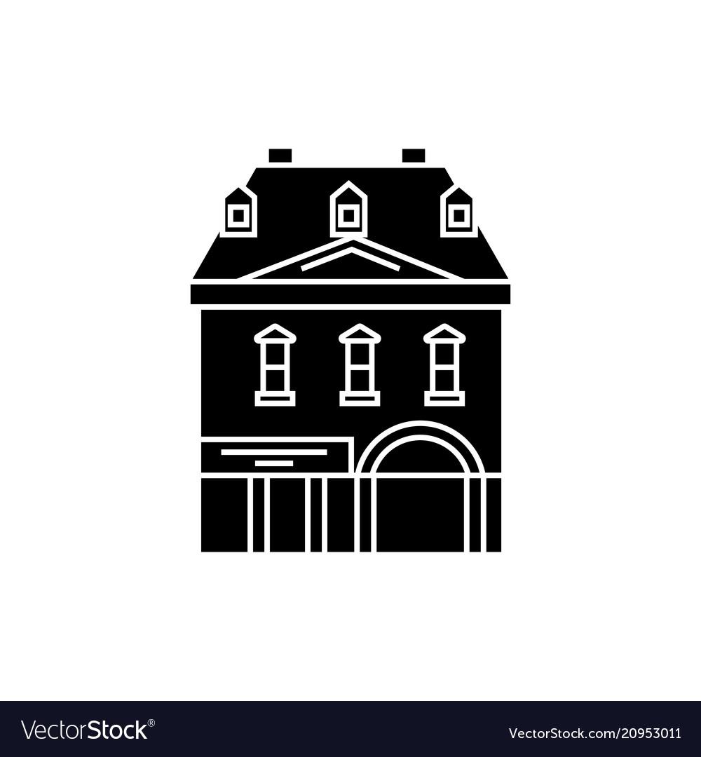 Historic building black icon concept historic