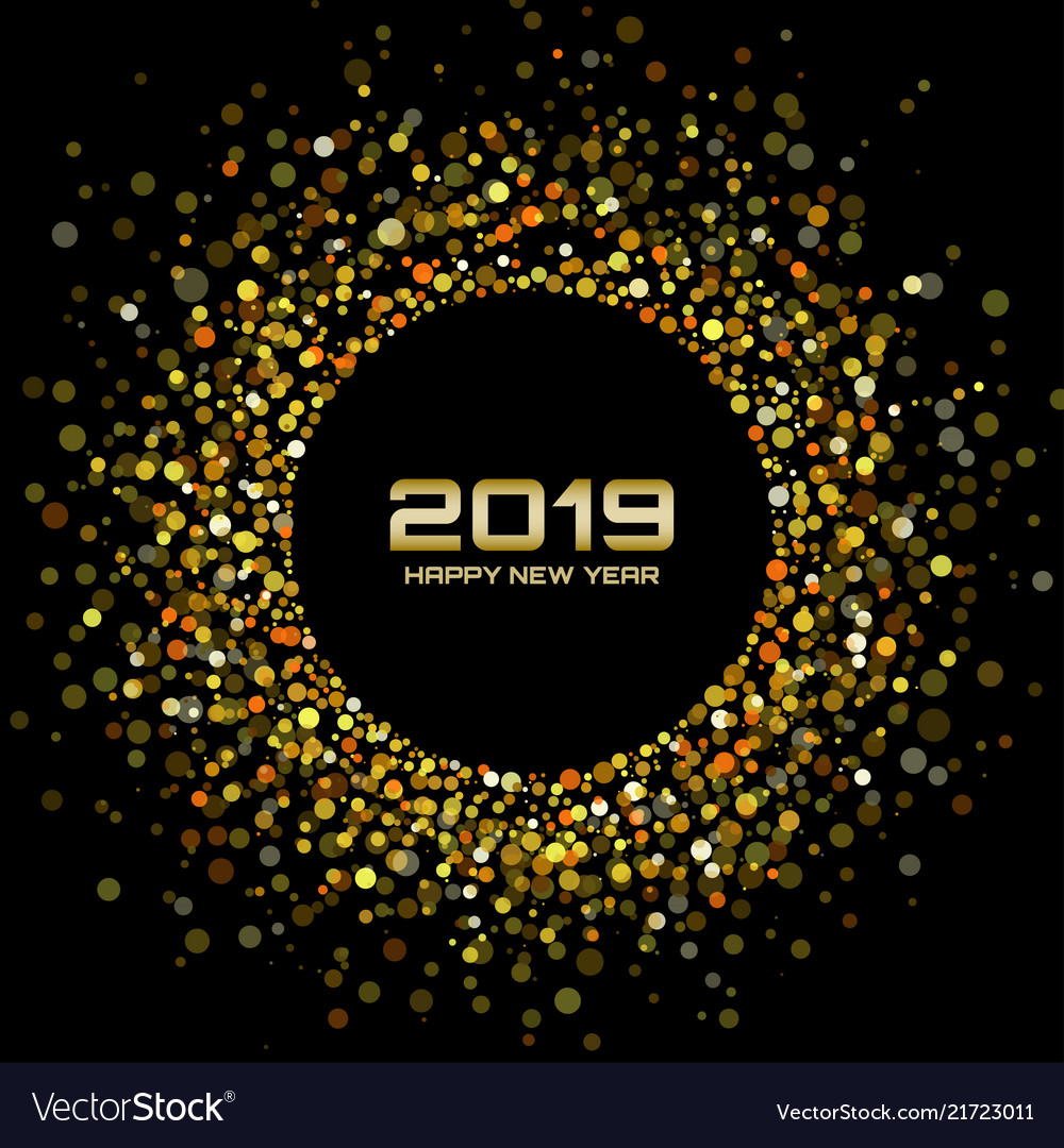 New year 2019 gold card background