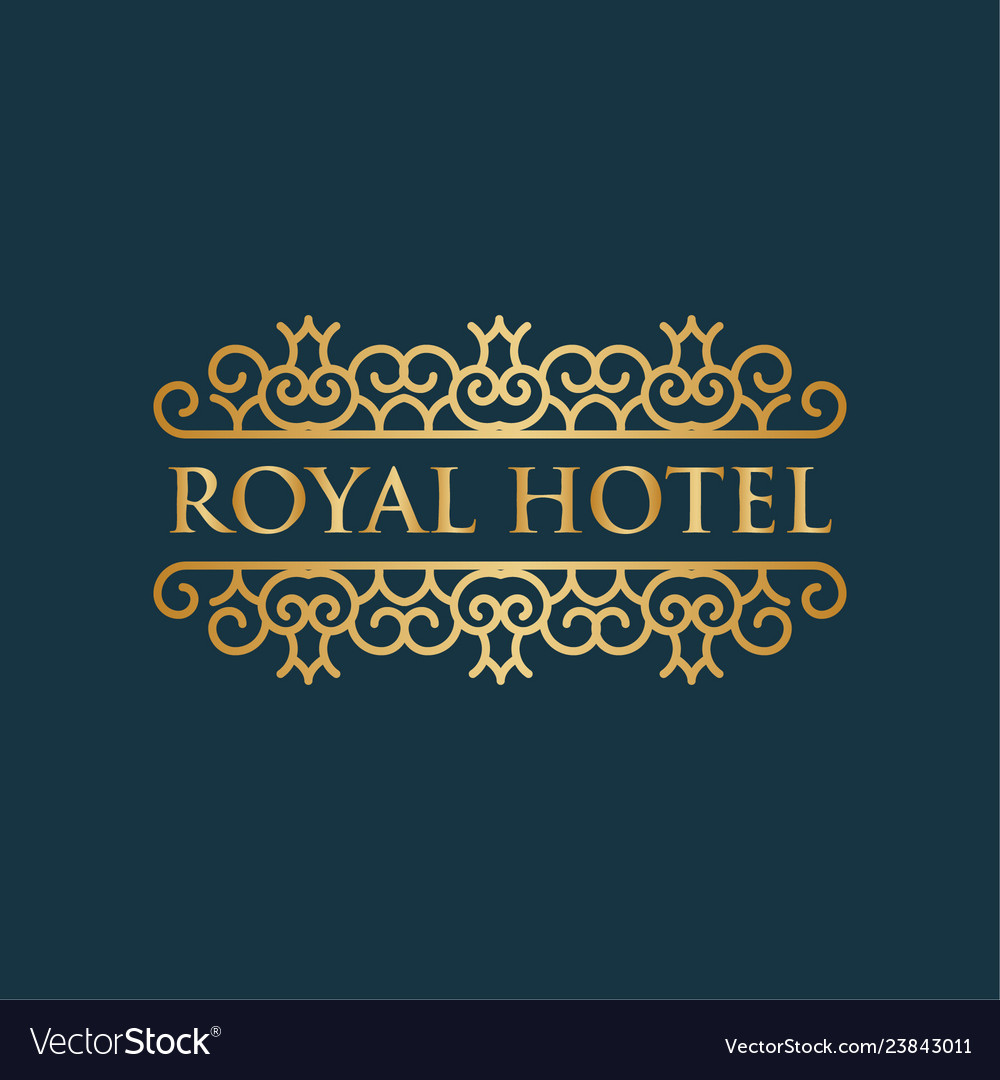 Royal hotel luxury logo design inspiration in