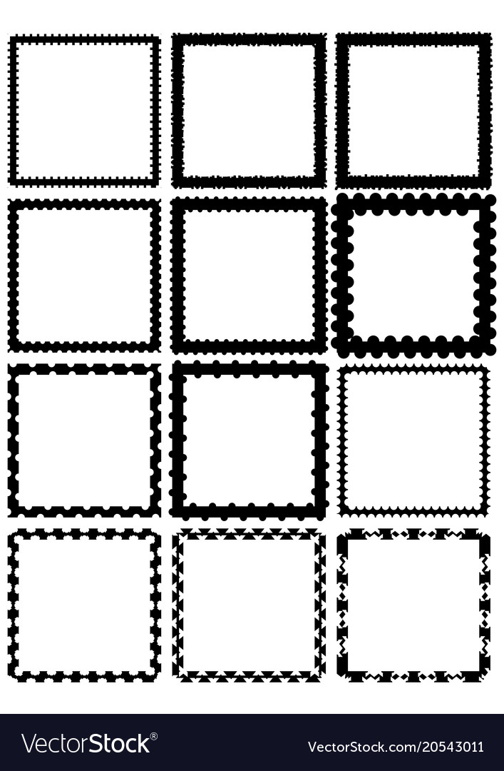 Set of square label borders simply shapes in
