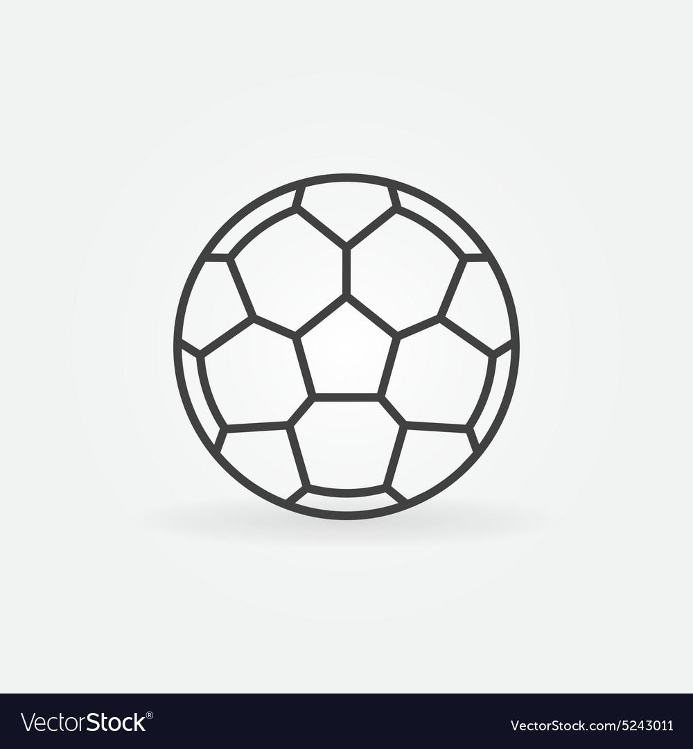 Soccer ball icon or logo