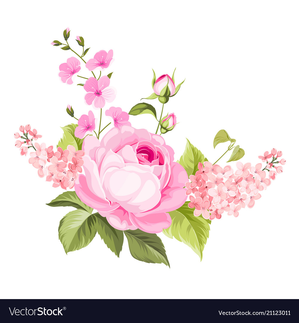 Spring Flowers Bouquet Royalty Free Vector Image