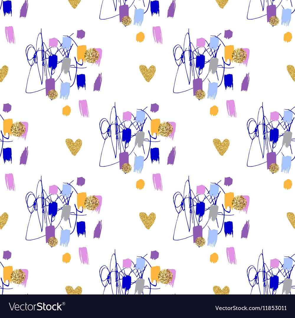 Trendy fashion geometric seamless pattern Modern
