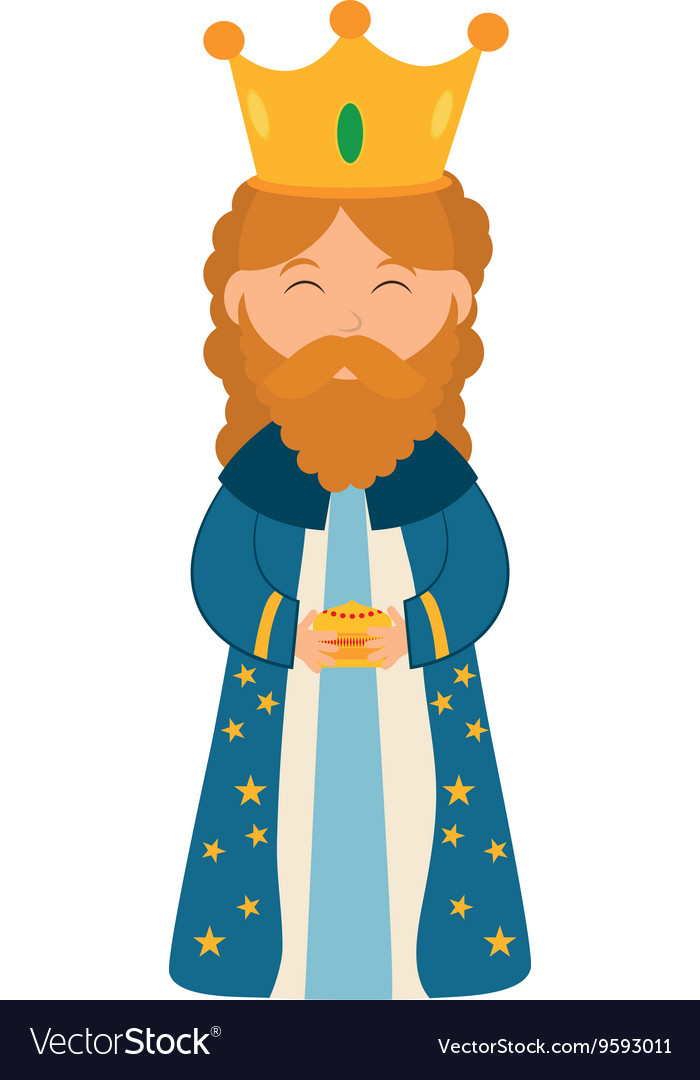 Wise man icon Merry Christmas design