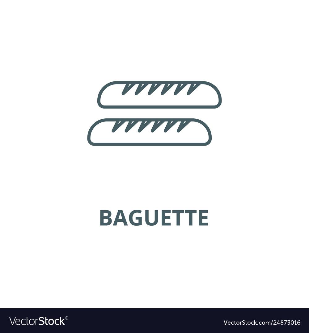 Baguette line icon baguette outline sign