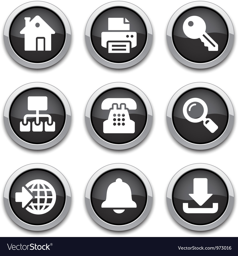 Black internet buttons