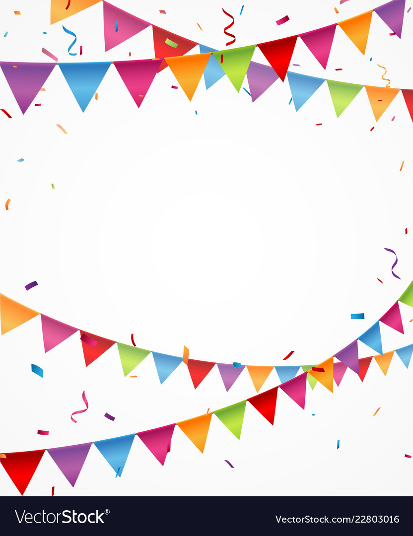 Celebration background with bunting flags Vector Image
