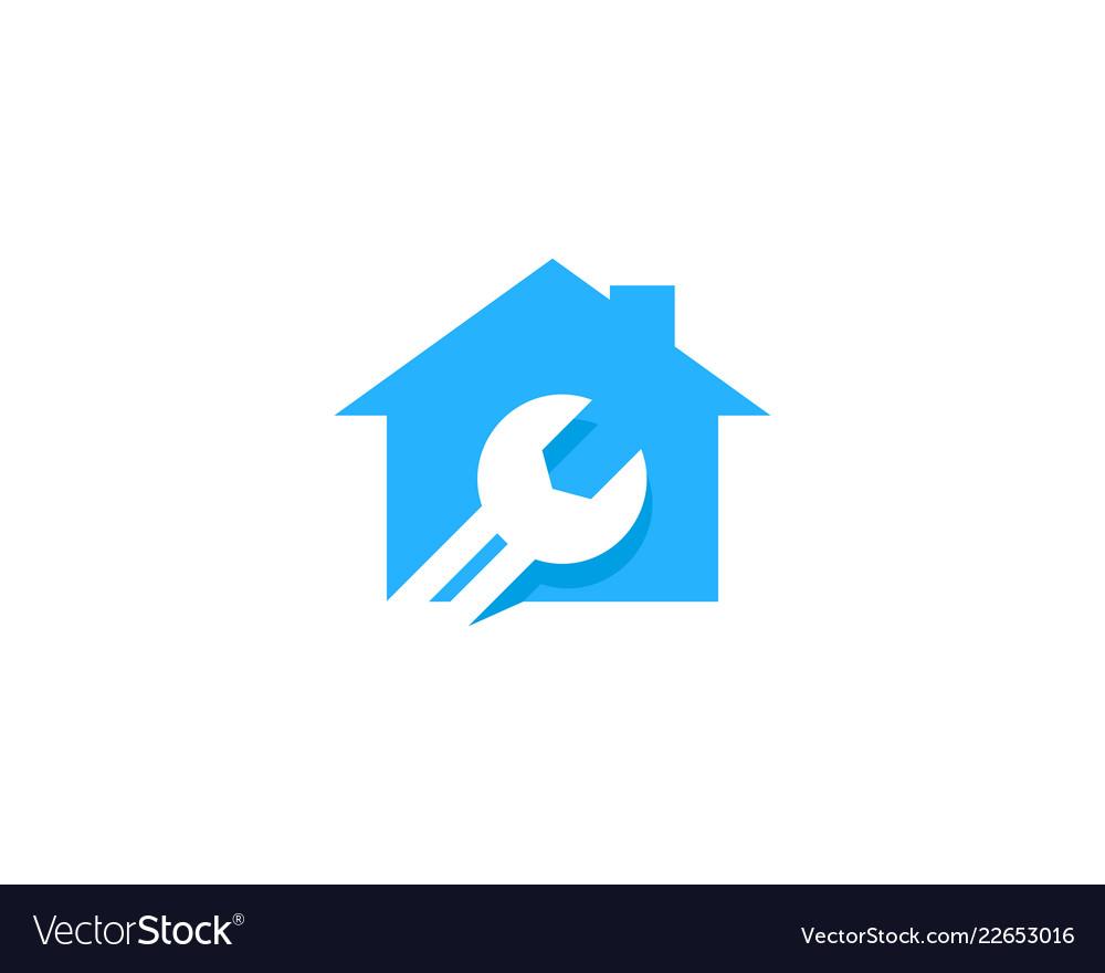 Estate fix and repair logo icon design