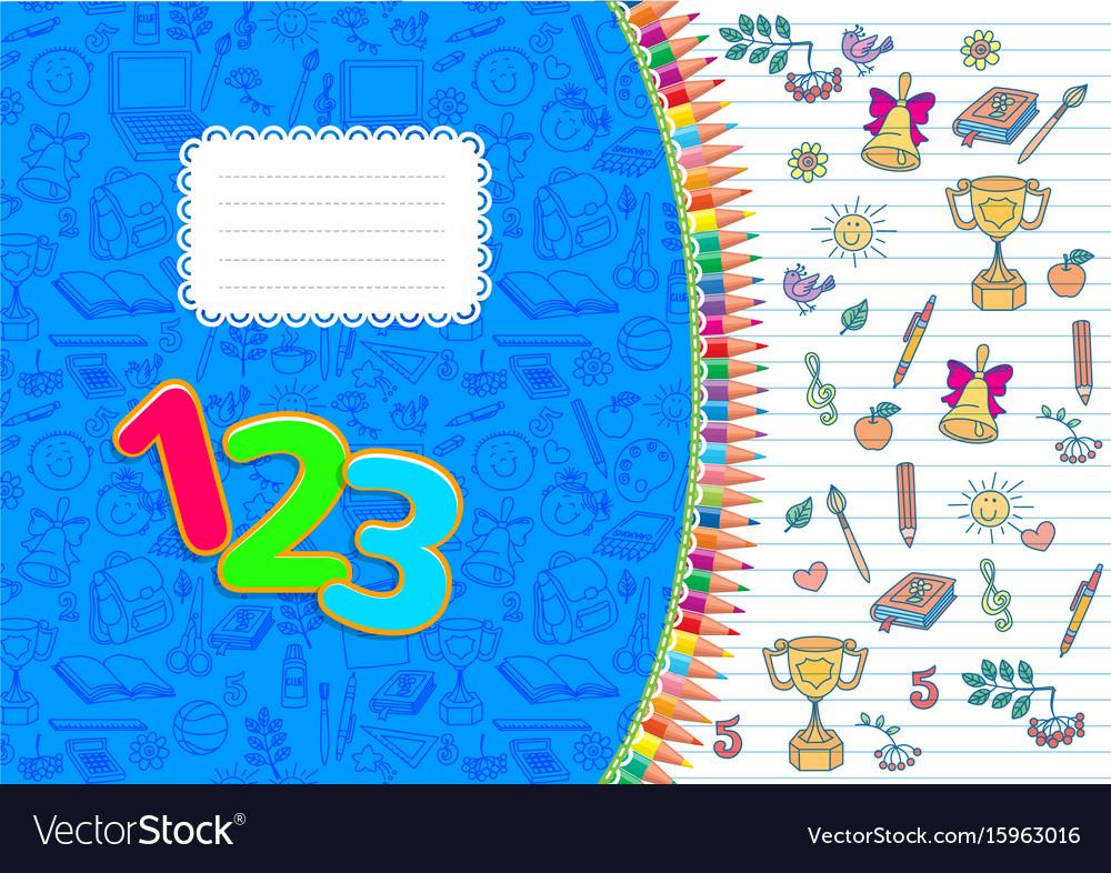 School notebook horizontal striped a4