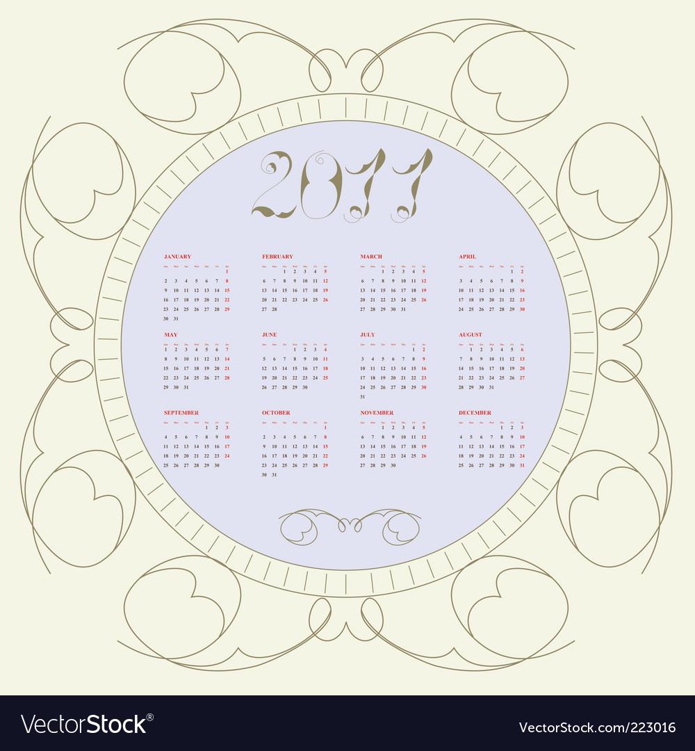 calendar of 2011. Vintage Calendar For 2011