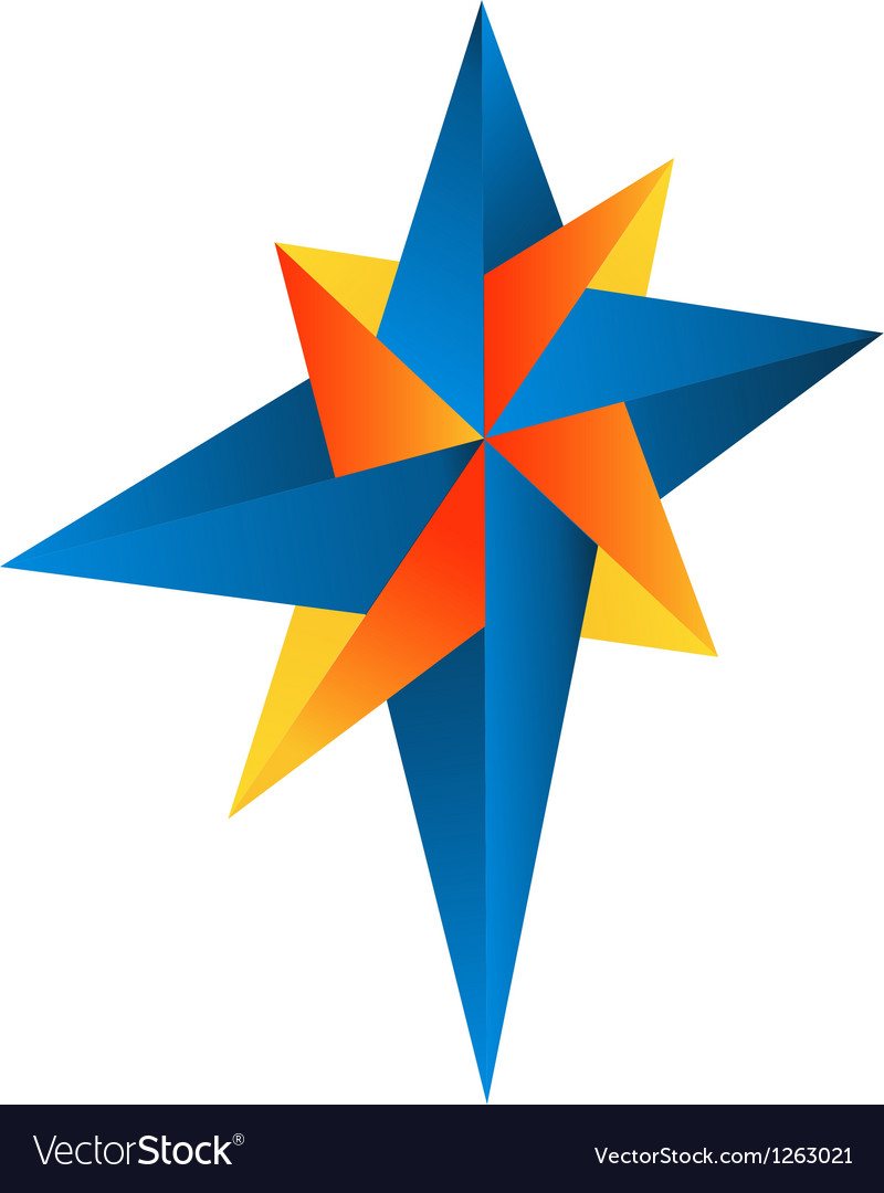 Abstract compass rose logo