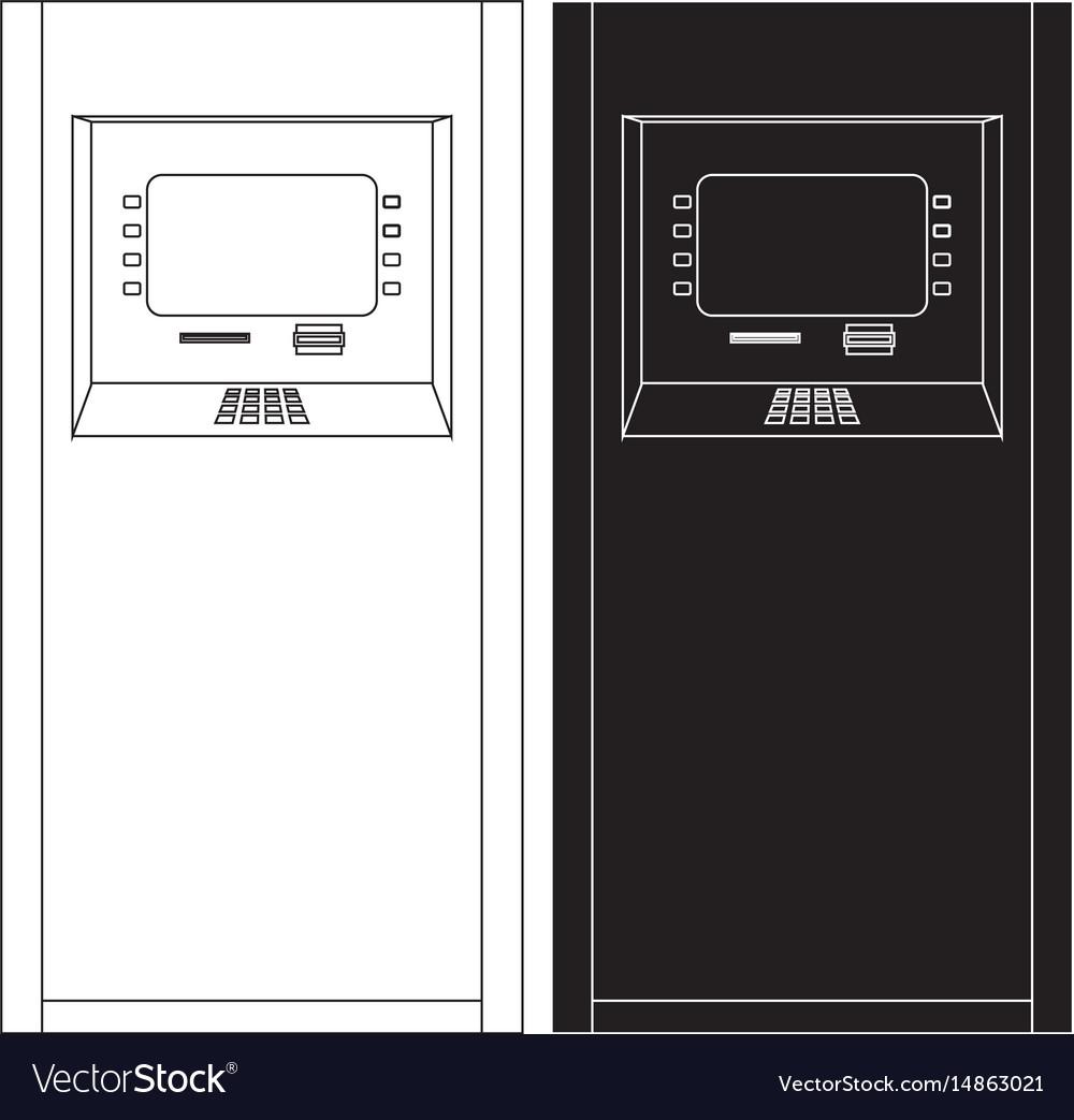 Atm bank machine automated teller machine icon