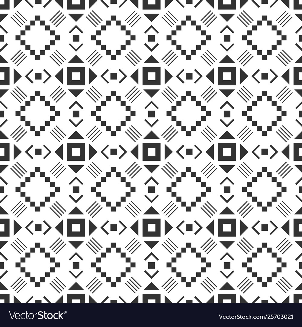 Black and white seamless pattern aztec abstract