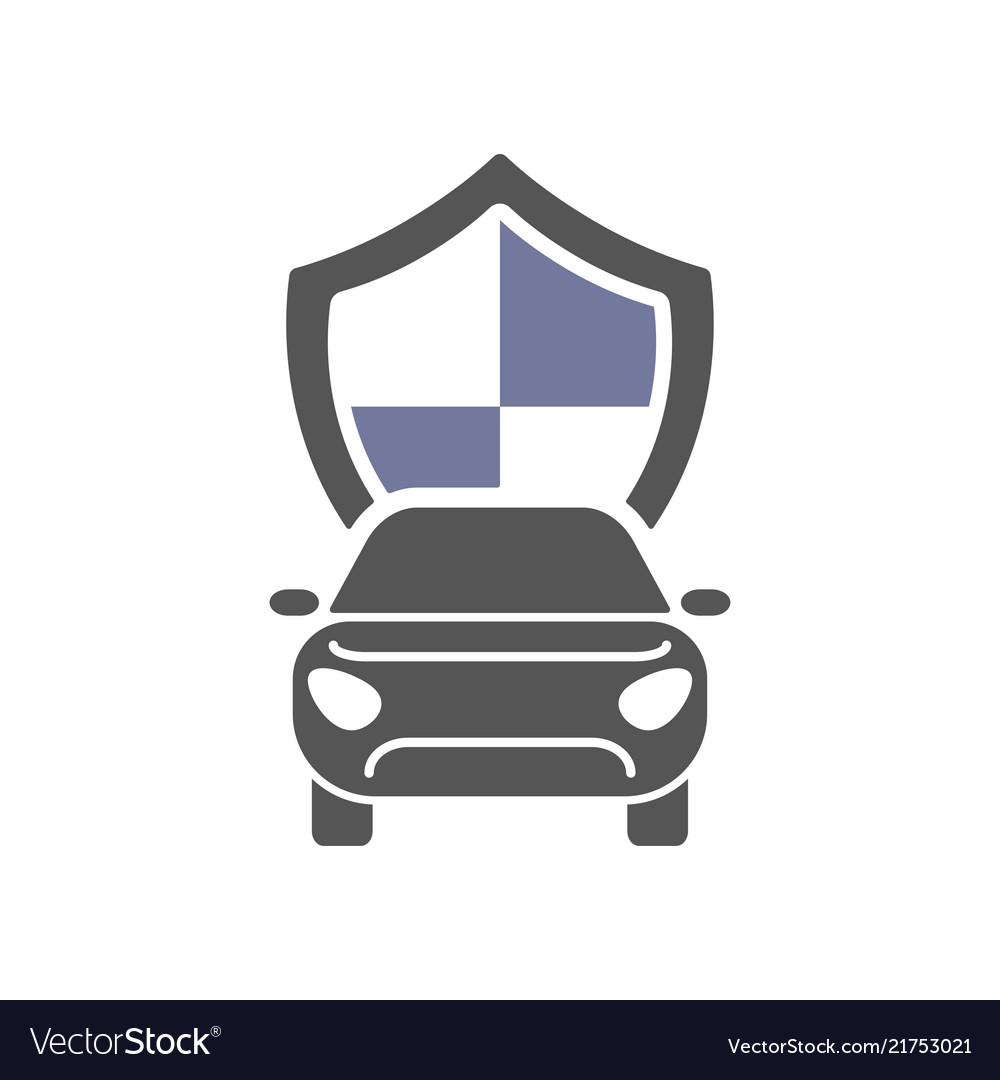 Car insurance sign icon protection symbol flat