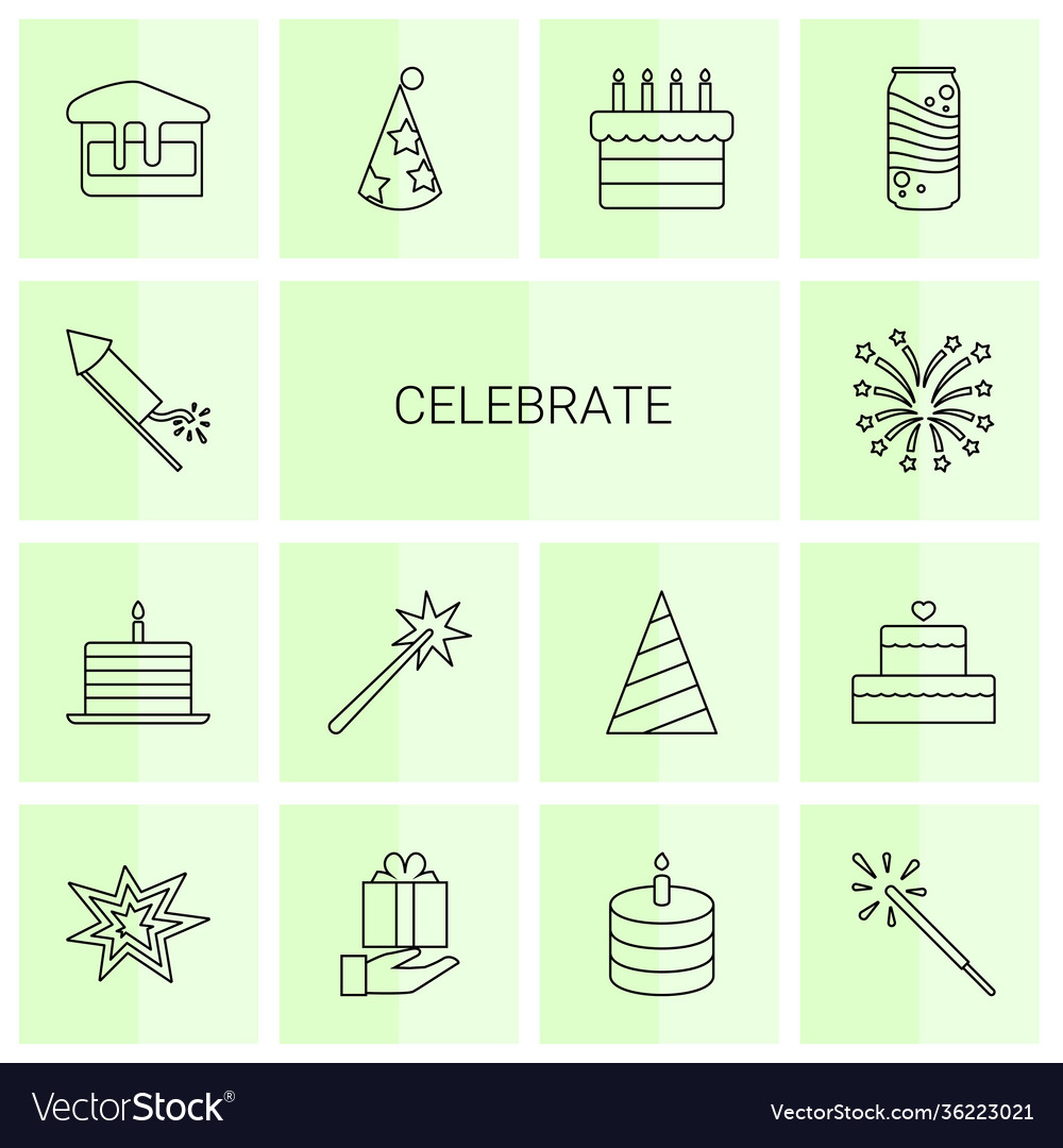 Celebrate icons