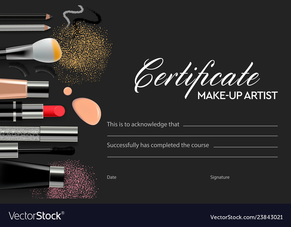 Certificate Makeup School Royalty Free