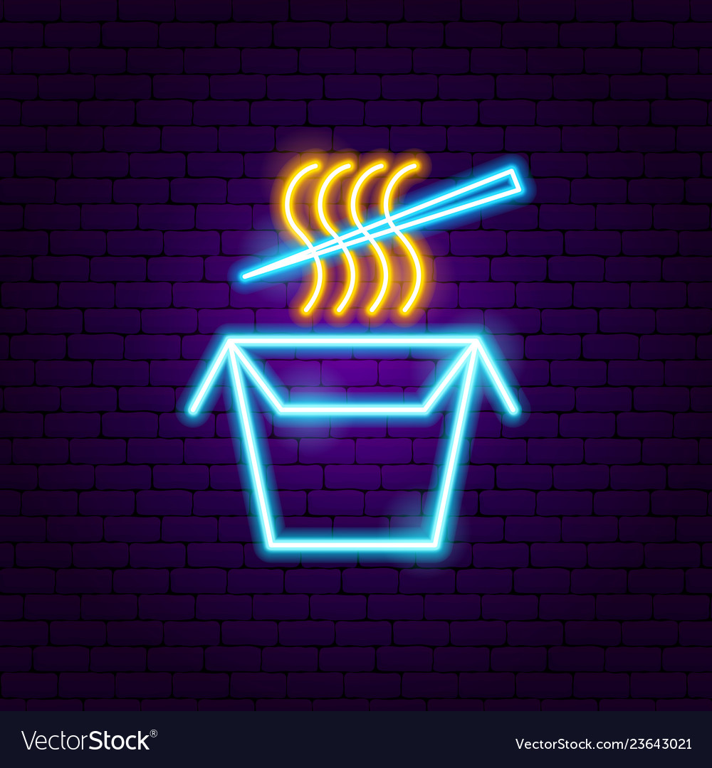 Chinese food neon sign
