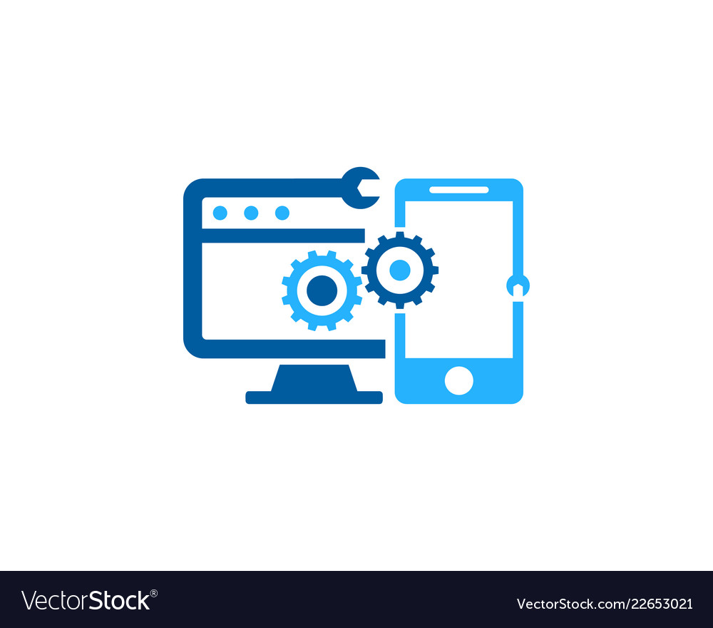 Device fix and repair logo icon design Royalty Free VectorComputer Network Logo