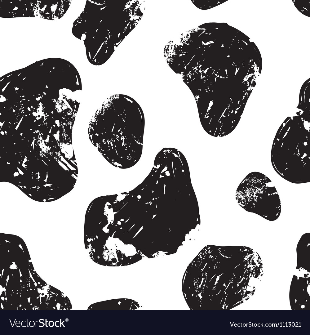 Doodle grunge cow pattern seamless