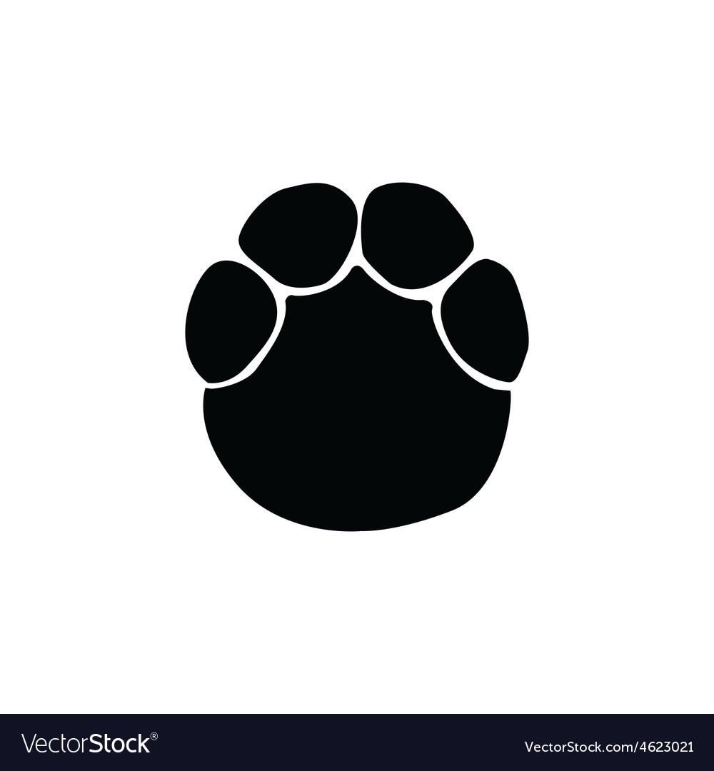 Elephant Footprint Royalty Free Vector Image Vectorstock Elephant illustration, african bush elephant asian elephant african forest elephant, elephant, mammal, animals png. vectorstock