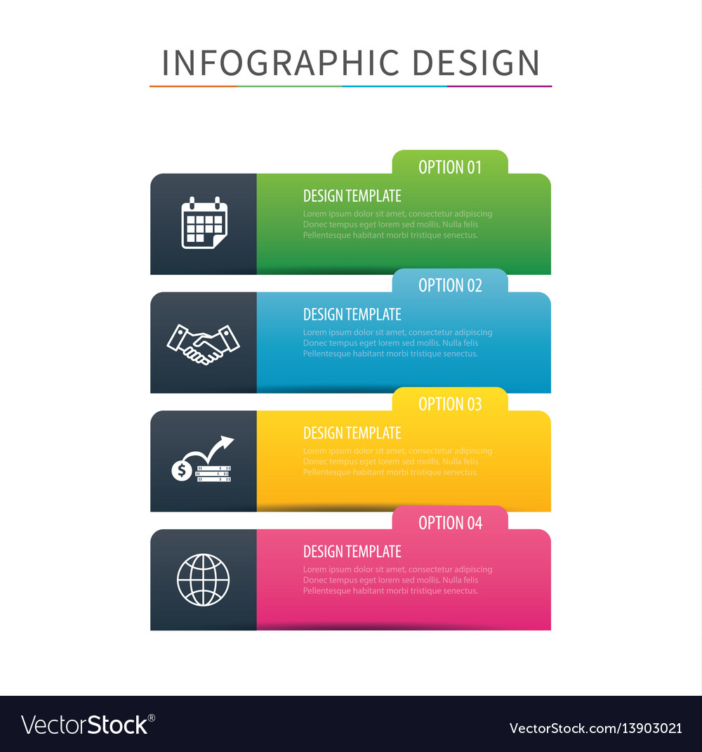 Infographics tab index 4 option template