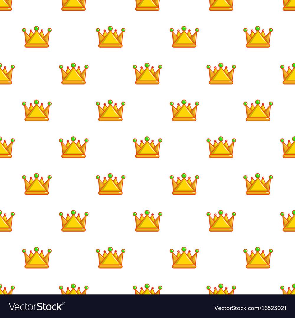 Royal crown pattern seamless vector image