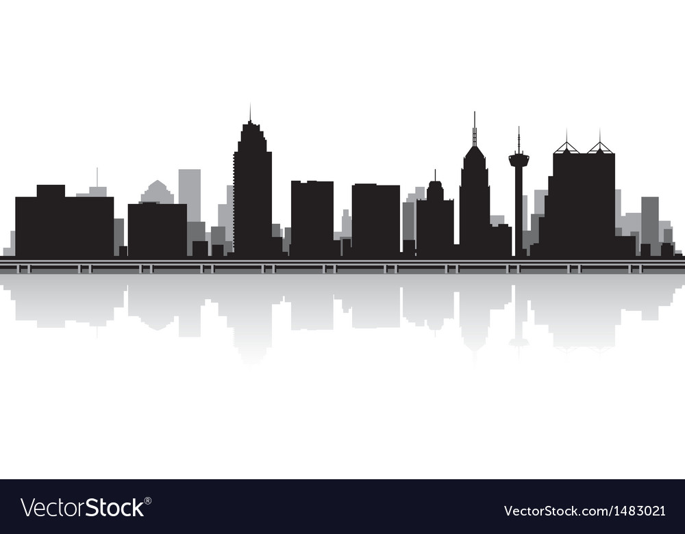 San Antonio USA city skyline silhouette