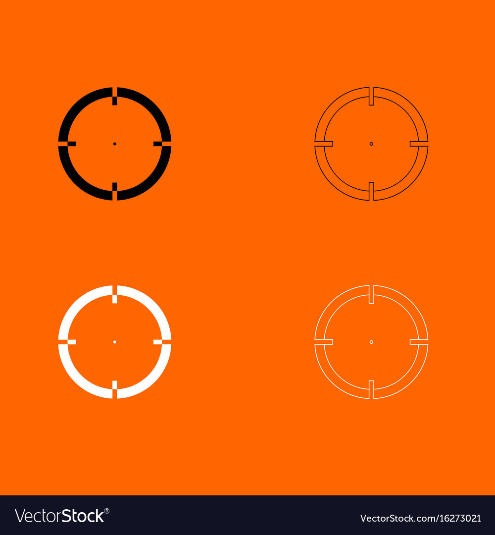 Sight black and white set icon vector image