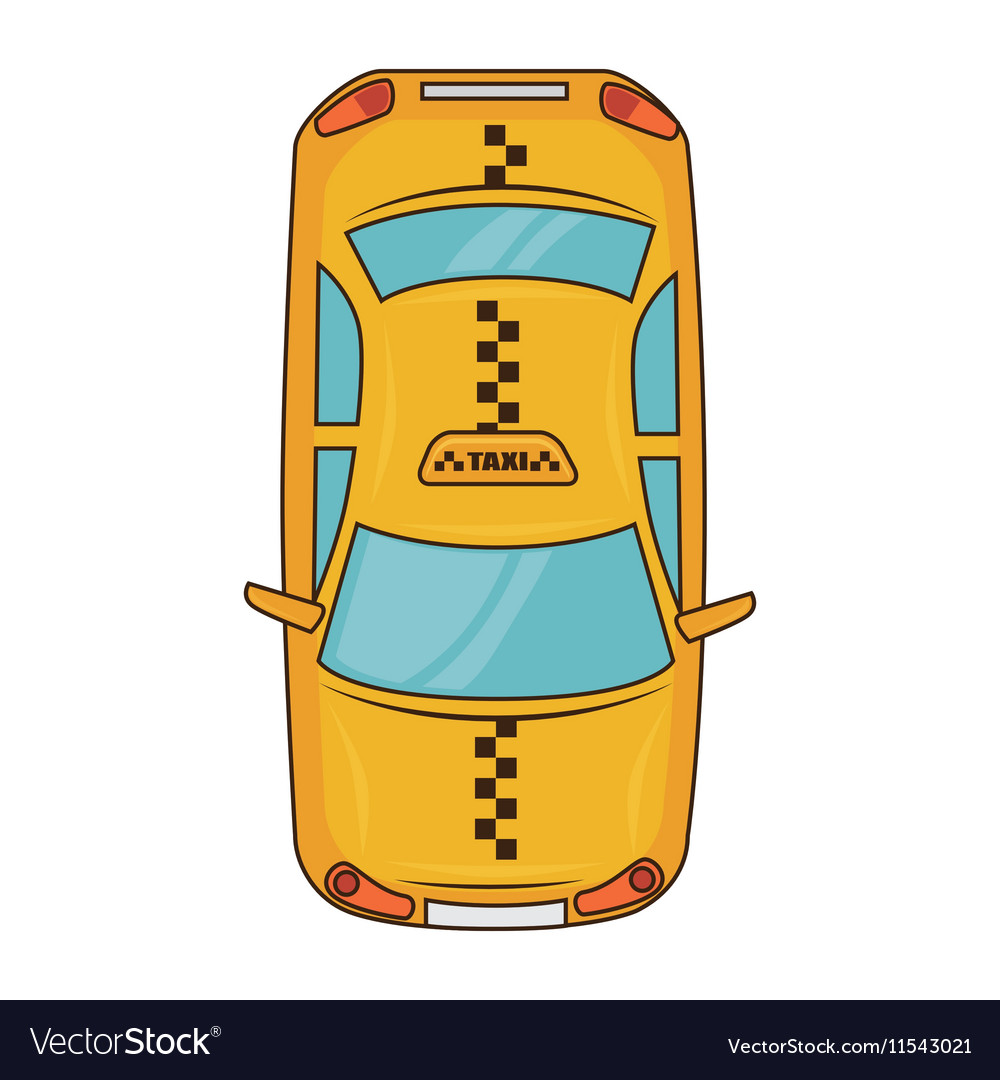 Yellow taxi car vehicle service vector image