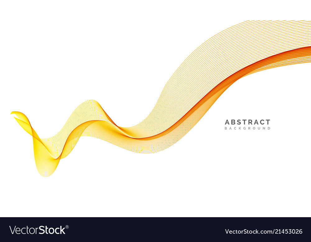 Abstract background orange wavy