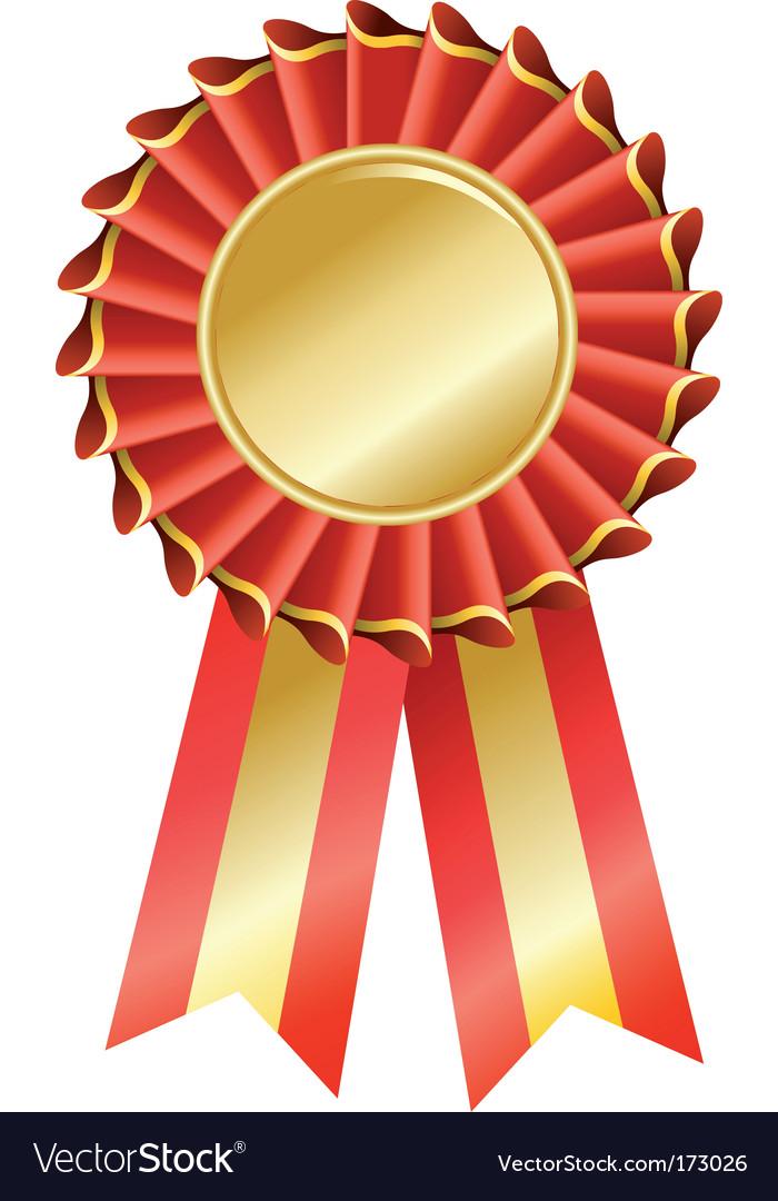 award seal rosette royalty free vector image vectorstock