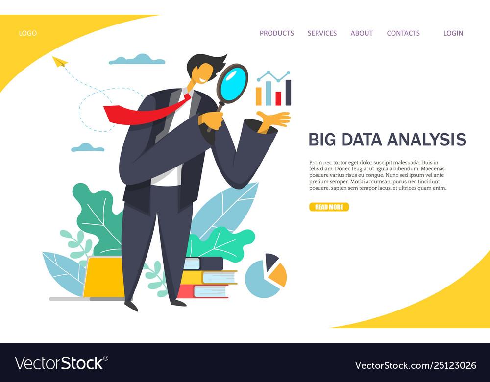 Big data analysis website landing page