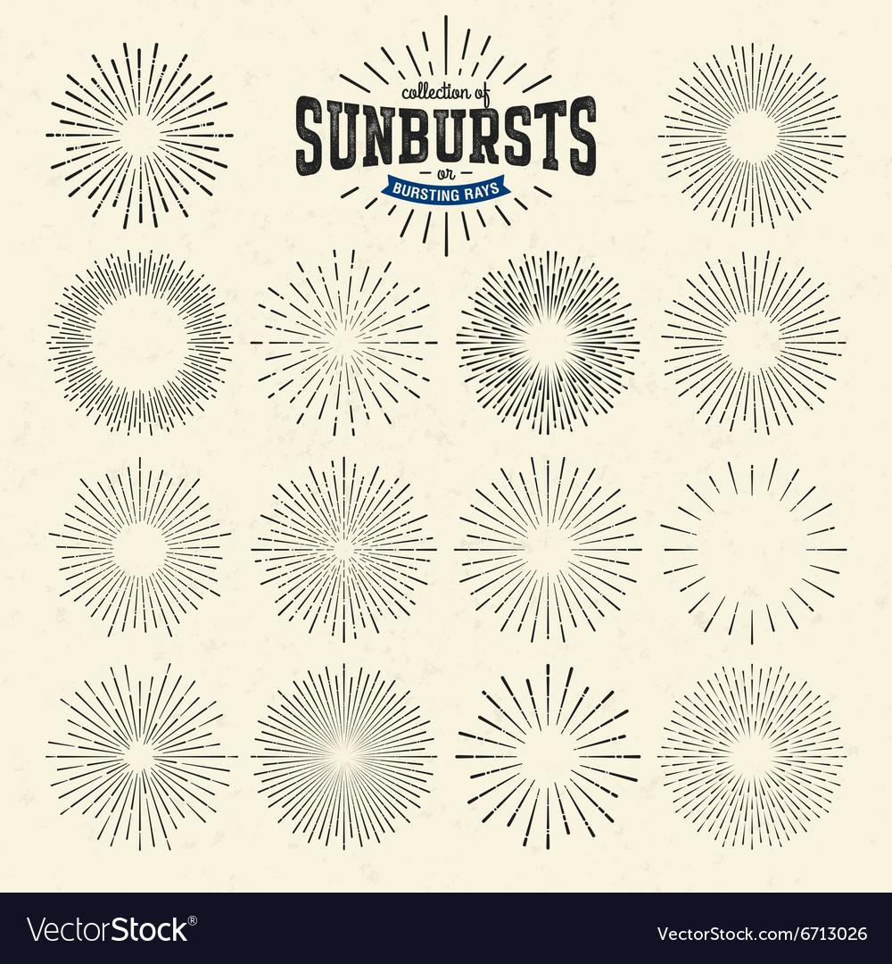 Collection of sunbursts