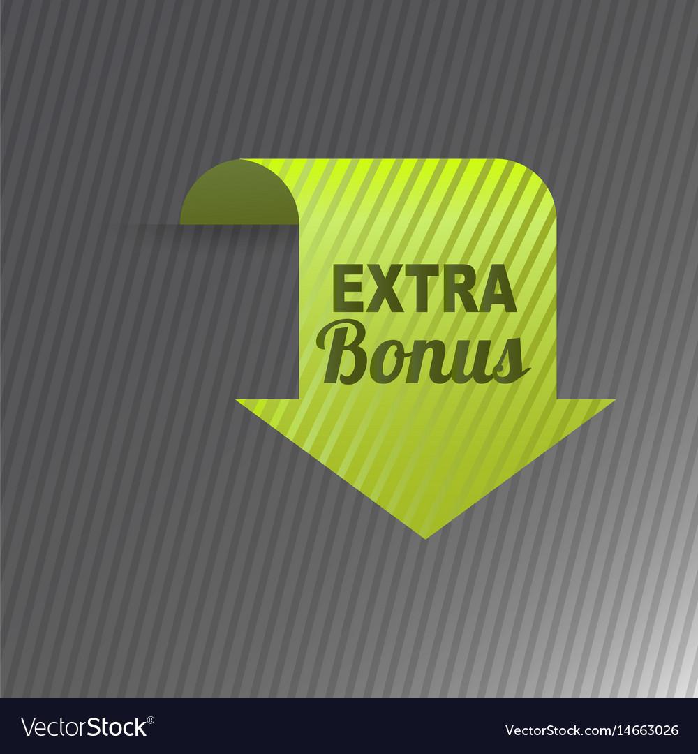 Colorful website extra bonus arrow button design